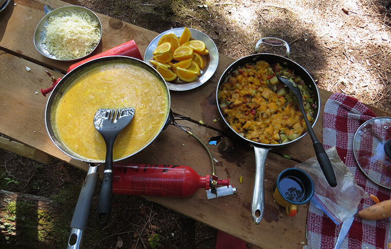 kayak wilderness cooking