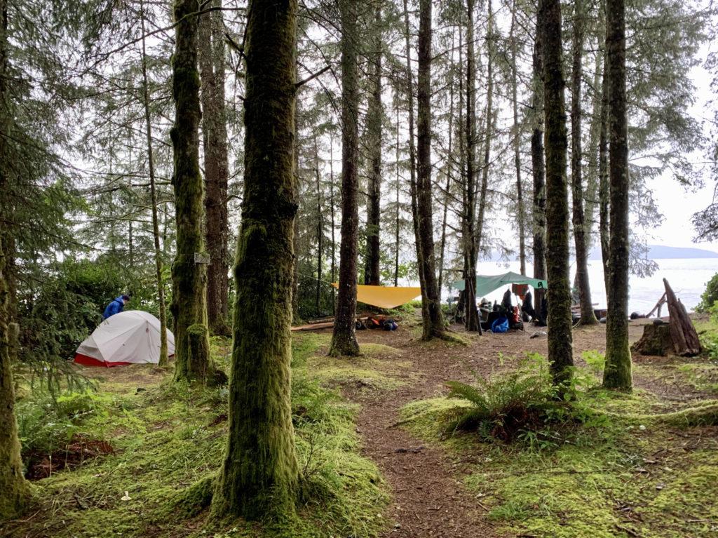 camping at Kaikash, Johnstone Strait, BC