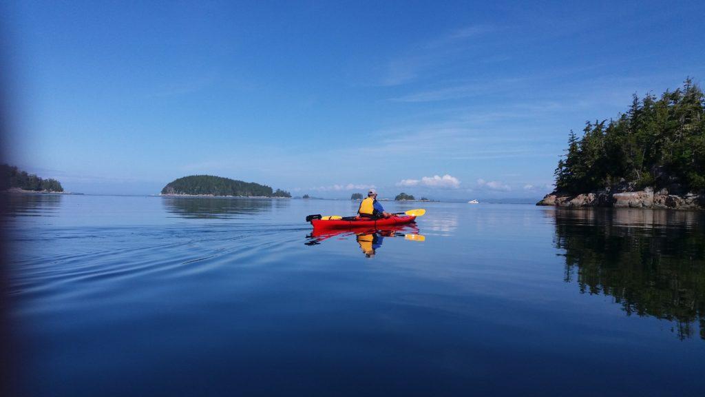 sea kayaker, Johnstone Strait, BC